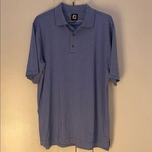 ⛳️ FootJoy Men's Blue & White Stripped Golf Polo L